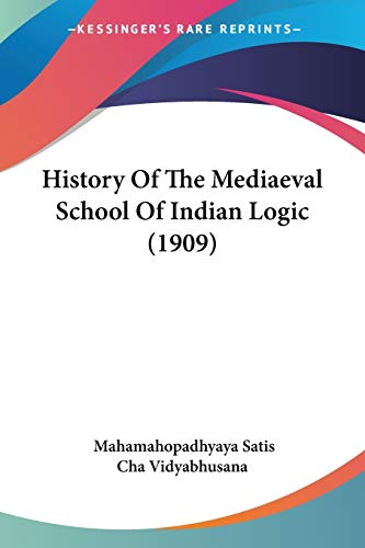 History Of The Mediaeval School Of Indian