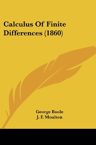 9780548769102: Calculus Of Finite Differences (1860)