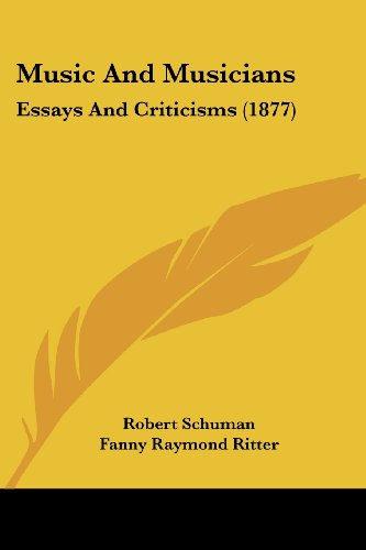 9780548770450: Music And Musicians: Essays And Criticisms (1877)