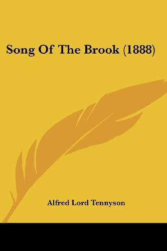 9780548791998: Song Of The Brook (1888)