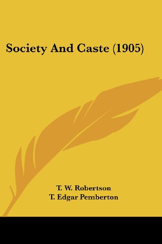9780548794654: Society and Caste (1905)
