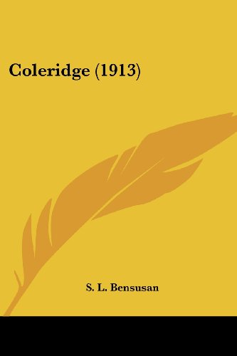 Coleridge (1913) (0548795495) by S. L. Bensusan