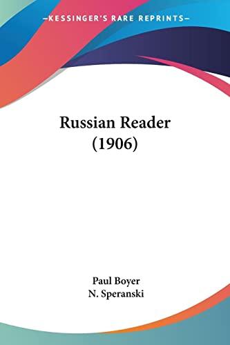 9780548803479: Russian Reader (1906)