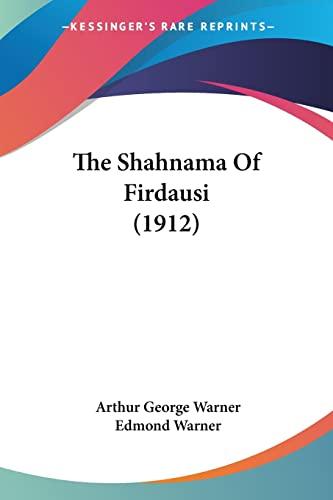 9780548804582: The Shahnama Of Firdausi (1912)