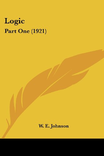 9780548804933: Logic: Part One (1921)