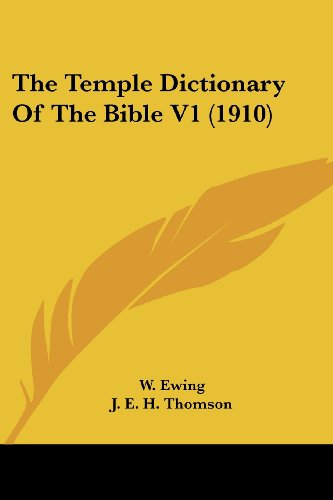 9780548808078: The Temple Dictionary Of The Bible V1 (1910)