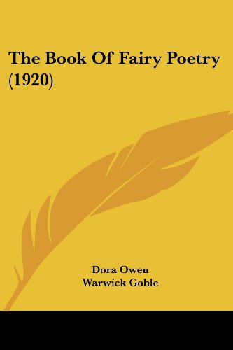 9780548815885: The Book of Fairy Poetry (1920)