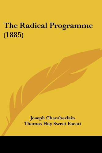 9780548852873: The Radical Programme