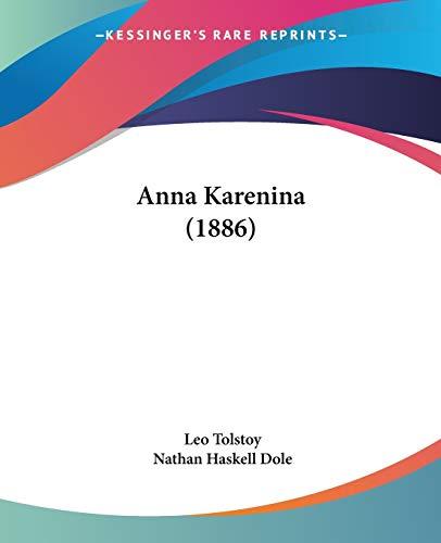 9780548900239: Anna Karenina (1886)