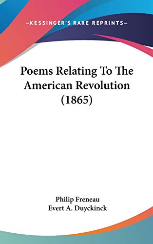 9780548930731: Poems Relating To The American Revolution (1865)
