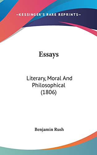 9780548934852: Essays: Literary, Moral And Philosophical (1806)