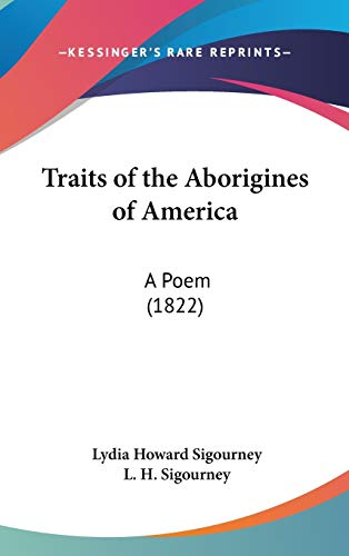 9780548957875: Traits of the Aborigines of America: A Poem (1822)