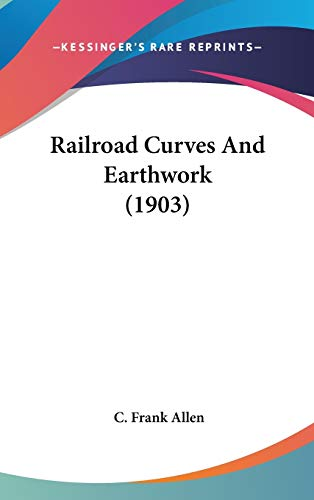 9780548978108: Railroad Curves And Earthwork (1903)