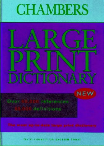 9780550100078: Chambers Dictionary: Large Print Edition