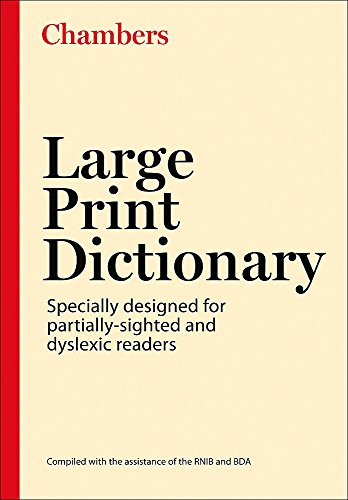 9780550101648: Chambers Large Print Dictionary