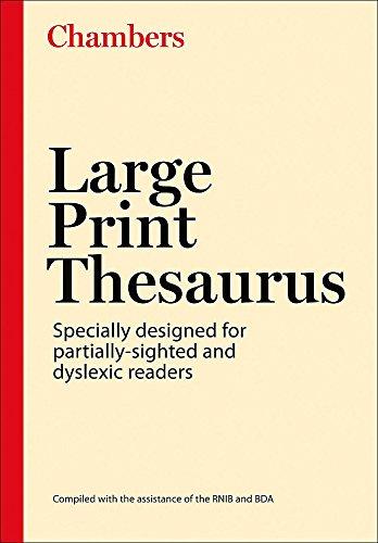 9780550101655: Chambers Large Print Thesaurus