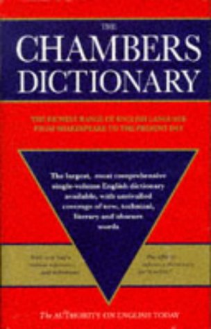 9780550102553: The Chambers Dictionary