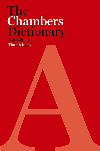 9780550103963: Chambers Dictionary: Thumb Index