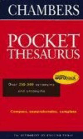 9780550105820: Chambers Pocket Thesaurus (Hardback) (Chambers School Dictionaries and Thesaurus)