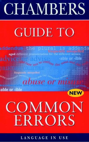 9780550141507: Chambers Guide to Common Errors in English