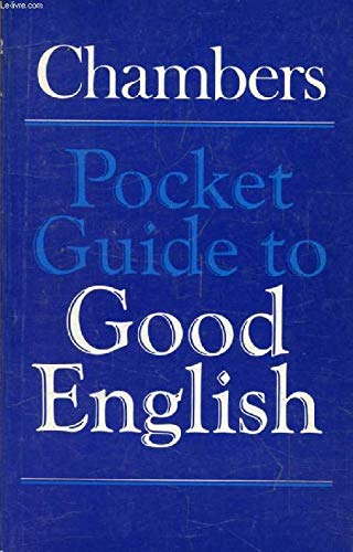 9780550180292: Chambers Pocket Guide to Good English
