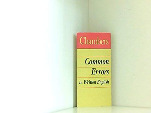 Chambers Common Errors in Written English (English: Marriott, Sarah
