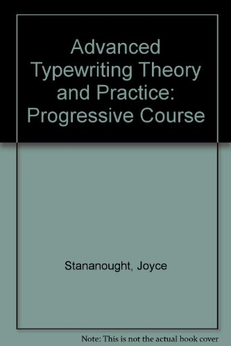 9780550753083: Advanced Typewriting Theory and Practice: Progressive Course