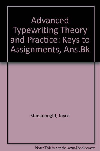 9780550753090: Advanced Typewriting Theory and Practice: Keys to Assignments, Ans.Bk