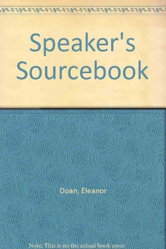 Speaker's Sourcebook (0551000511) by Eleanor Doan
