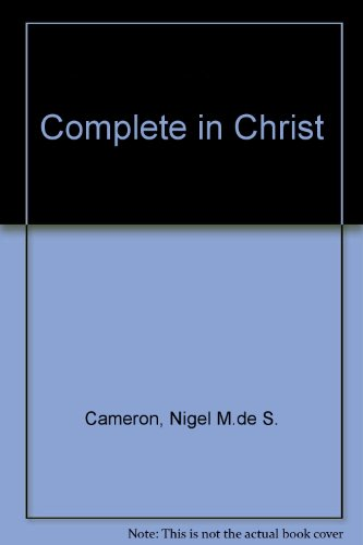 9780551017153: Complete in Christ