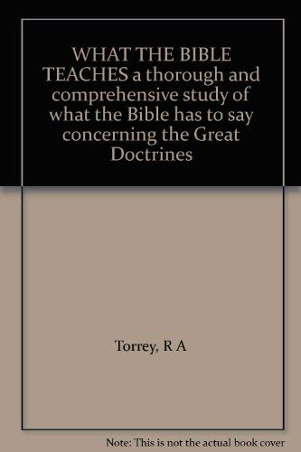 9780551055582: What the Bible Teaches (Marshalls study library)