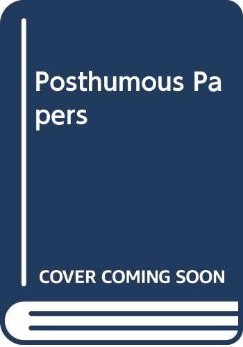 9780552133623: Posthumous Papers