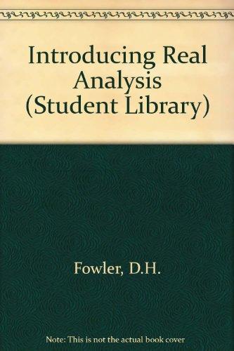9780552400176: Introducing Real Analysis