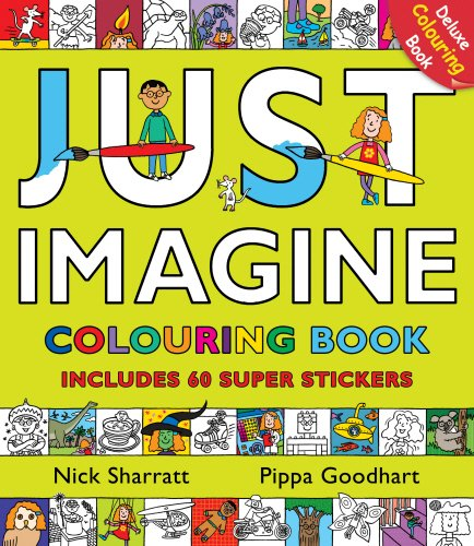 9780552563574: Just Imagine: Colouring Book with Stickers