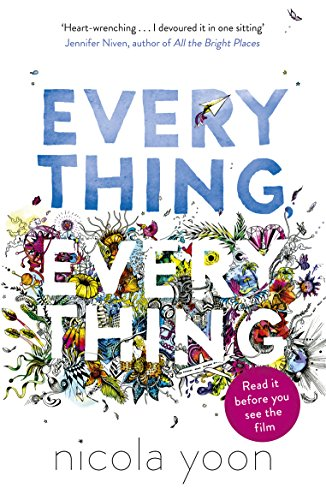 Everything, Everything 9780552574235 Madeline Whittier is allergic to the outside world. So allergic, in fact, that she has never left the house in all of her seventeen years. But when Olly moves in next door, and wants to talk to Maddie, tiny holes start to appear in the protective bubble her mother has built around her. Olly writes his IM address on a piece of paper, shows it at her window, and suddenly, a door opens. But does Maddie dare to step outside her comfort zone?  Everything, Everything  is about the thrill and heartbreak that happens when we break out of our shell to do crazy, sometimes death-defying things for love.