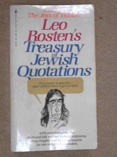 9780552608770: Leo Rosten's treasury of Jewish quotations