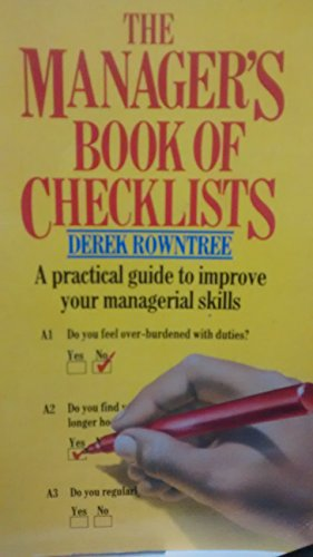 9780552992916: The Manager's Book of Checklists