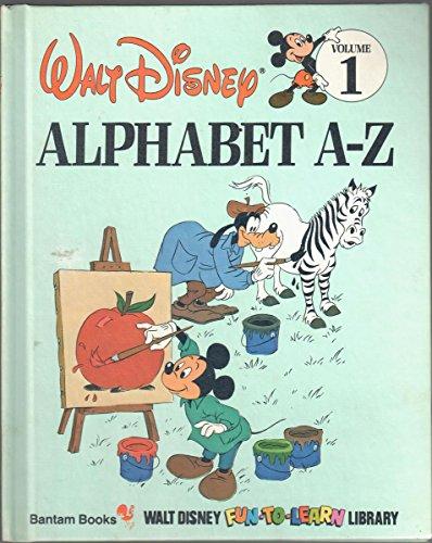 9780553055016: Alphabet A-Z (Disney's Fun-to-Read Library, Vol. 1)