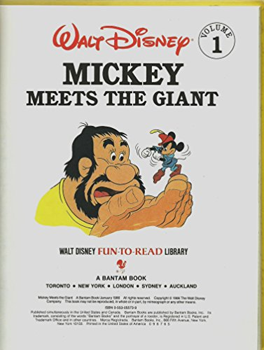 Mickey Meets the Giant (Walt Disney Fun-to-Read: Walt Disney