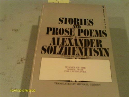 9780553074093: Stories and Prose Poems