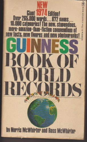 9780553080421: Guinness Book of World Records 1974