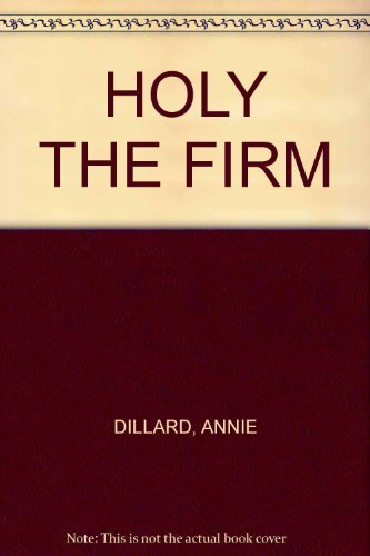 9780553123883: Holy the Firm