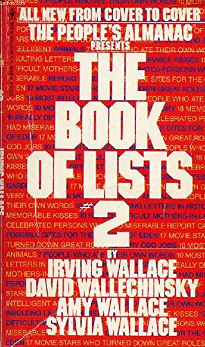 9780553131017: The People's Almanac Presents the Book of Lists No. 2
