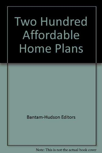 9780553133578: 200 affordable home plans
