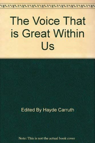 9780553136005: The Voice That Is Great Within Us American Poetry of the Twentieth Century