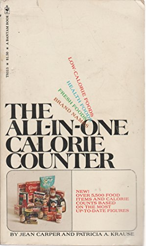 9780553139761: The All-in-one Calorie Counter