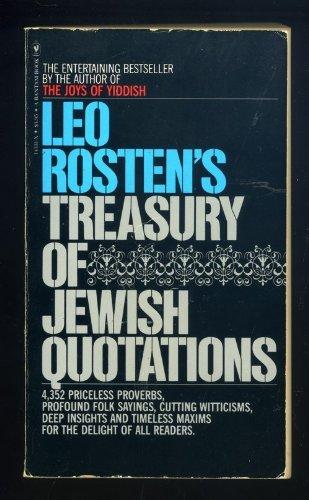 9780553143317: Leo Rosten's Treasury of Jewish Quotations