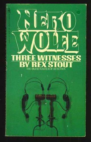 9780553144512: Three Witnesses