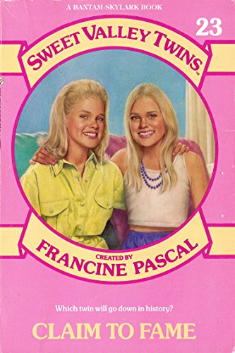 CLAIM TO FAME (Sweet Valley Twins): Pascal, Francine