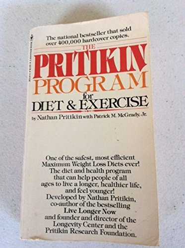 9780553201345: Pritikin Program for Diet and Exercise